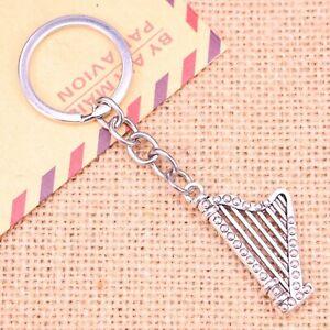 Silver-Irish-Harp-Music-Instrument-Musician-Novelty-Keyring-Keychain-Gift-Bag
