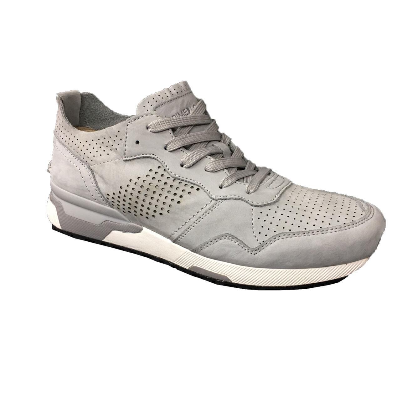 Crime London Men's shoes Grey Unlined Mod. 11522s17b 100% Suede Leather