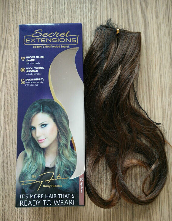 Secret Extensions By Daisy Fuentes Light Brown Hair As Seen On Tv