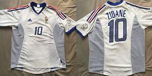 Maillot-France-Zinedine-ZIDANE-Coupe-du-Monde-2002-Real-Madrid-Juventus-Bordeaux