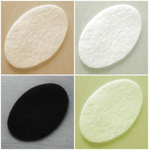 30+ colours :- Ovals 6.5cm x 4.2cm -:- Felt Die-Cuts Pack of 12 Crafts etc