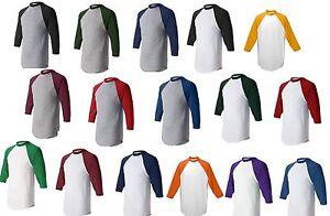 Augusta-Mens-S-L-XL-2XL-3XL-Sleeve-Baseball-Jersey-T-Shirt-Team-Sports-Tee-420