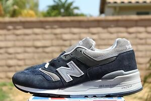 d95b08fa2f0d0 NEW BALANCE 997 SZ 5.5 NAVY BLUE GREY M997NV OG REISSUE NB MADE IN ...