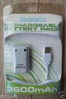 Batterie Rechargeable Pour Manettes Sans Fil + Cable - Xbox 360 - Neuve
