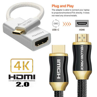 ThunderBolt USB 3.1 Type-C to HDMI 2.0 Cable Hi-Speed UHD TV 2160P 4K Cable lot