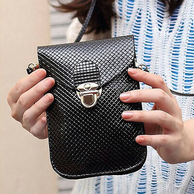 Hot Sale Women PU Leather Messenger Bag Purse Shoulder Mobile Phone Bag Wallet