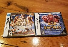 Lot of 2 - Age of Empires: The Age of Kings & Mythologies for Nintendo DS