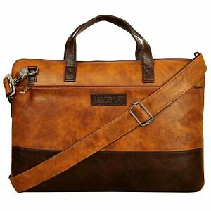 Us Craft 15.6 inch Leather Shoulser Sling Laptop Messenger Bag For Unisex