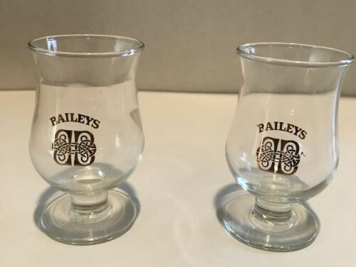 BaileysSet Of 2Tulip Goblet Shot GlassesSmall FootedIrish Cream