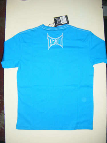 BOYS KIDS JUNIORS BLUE 11-12 13 YEARS TAPOUT UFC MMA FIGHTING T-SHIRT TEE SHIRT