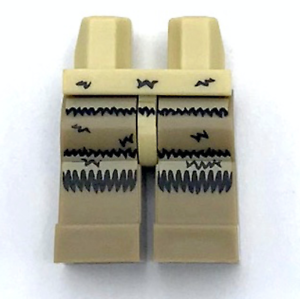 Lego New Minifig Tan Hips and Dark Tan Legs with Tan Black Fur Pattern Pants