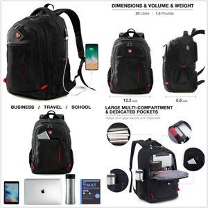 Laptop Backpack, Computer Bag, School Bag Travel business backpack with USB Port