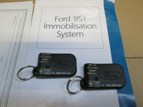 1340 Dijes Repuesto Original MTP Ford inmovilizador clave Dijes X 2