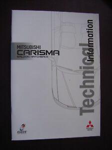 Collection Ici Mitsubishi Carisma Saloon/hatchback Technical Information Prospectus, 6.2000-afficher Le Titre D'origine