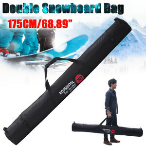 175cm-68-89-Inch-Ski-Bag-for-Double-Snowboard-Polyester-Material-Sport-Accessory