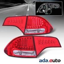2006-2011 Honda Civic Sedan 4Dr Red [LED] Tail Lights Rear Brake Lamps Set