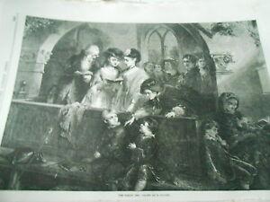 Belle The Family Pew Gravure Antique Print 1870