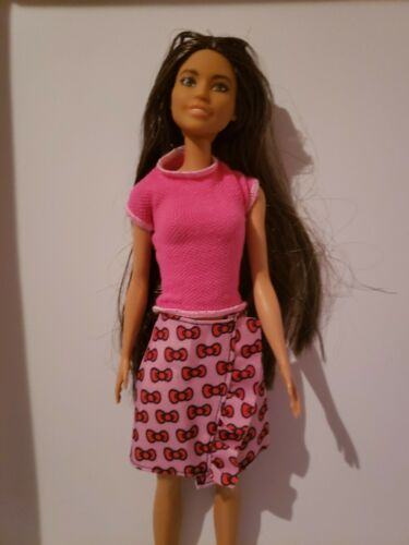Barbie Doll Hello Kitty  PINK SKIRT WITH RED BOWS  Sanrio NEW