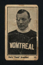 "1924-25 V130 MAPLE CRISPETTE ~ #18 ~ HARRY ""PUNCH"" BROADBENT ~ HALL OF FAME"
