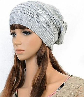 NEW Unisex Womens Mens Knit Baggy Beanie Hat Winter Warm Oversized Ski Cap