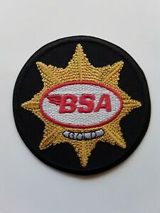 BSA BRITISH CLASSIC MOTOR BIKE MANUFACTURER EMBROIDERED QUALITY PATCH UK SELLER