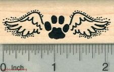 Paw Print Angel Rubber Stamp, Pet Loss Silhouette Series E29811 WM