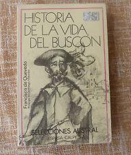 Historia de la vida del buscón, Francisco de Quevedo, Selecciones Austral, 1980