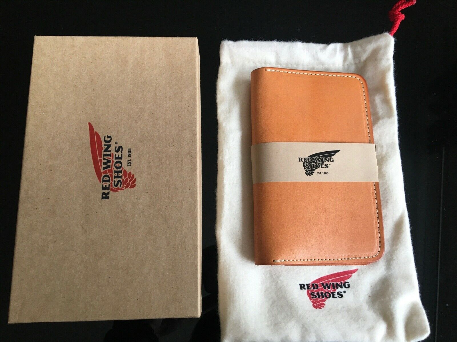 Red Wing Passport Notebook Wallet Vegetable Tan Leather RRP