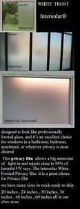 White Frost Privacy window film Made in usa   24 inch x 50 ft