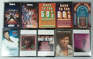 Lot of 10 Various Country and Other Genres Audio Cassette Tapes