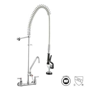 "Commercial Pre-Rinse Faucet Kitchen Dishwasher 12"" Add-On Faucet Chrome CUPC NSF"