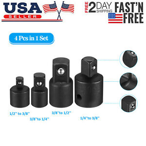 """4-pack 3//8/"""" to 1//4/"""" 1//2 inch Drive Ratchet Socket Adapter Reducer Air Impact Set"""