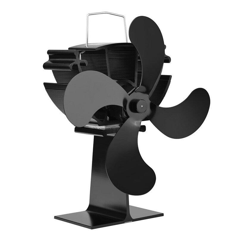 4 Blade Heat Ed Wood Stove Fan Eco