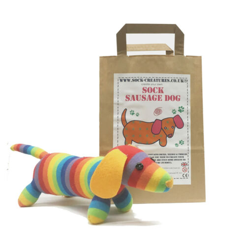 Creature sewing kids  dachshund SOCK SAUSAGE DOG CRAFT KIT. Christmas gift!