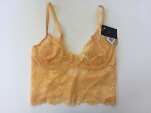 441860eb41 Image is loading Wacoal-Chrystalle-Longline-Underwire-Bra-Small-Orange-Lace-