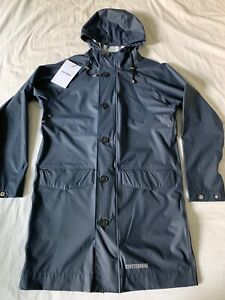 Stutterheim Ekeby Lightweight Raincoat Navy Unisex Xxs New