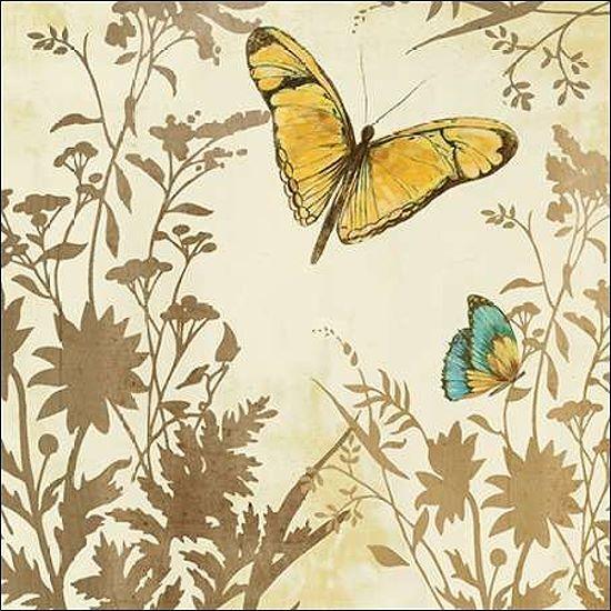PI Studio  Butterfly in Flight I Keilrahmen-Bild Leinwand Schmetterling floral