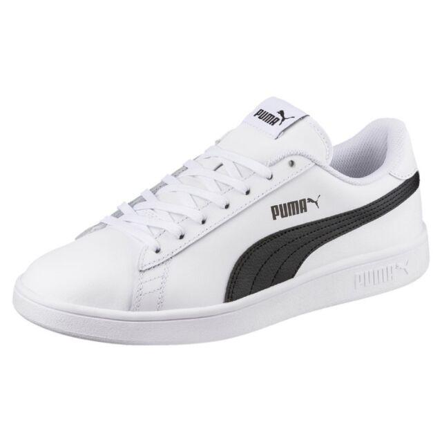 45859e3b0b9 PUMA Smash V2 L Classic Casual Lifestyle Shoes SNEAKERS White black ...