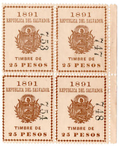 (i. B) El Salvador Recettes: Timbre Nacional 25p-afficher Le Titre D'origine Avec Une RéPutation De Longue Date