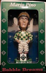 Bobble-Dreams-Mario-Pino-Jockey-Bobblehead-New-BOX-COLONIAL-DOWNS-NEW-KENT-VA