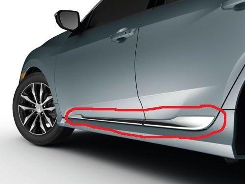 Genuine OEM 2017-2020 Honda Civic 5Dr Hatchback Chrome Lower Door Garnish