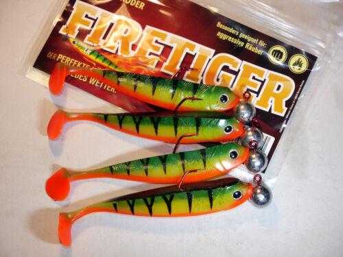 Lieblingsköder Flipper mit Stinger/&Jig 3//0 14g  Gummiköder Zander-Hecht-Barsch