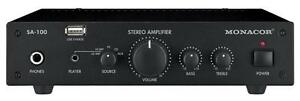 AMPLIFIER STEREO 2X50W USB Audio Visual Amplifiers, AMPLIFIER, STEREO,