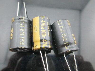 2PCS Nichicon KW 470uf 100v 470mfd audio ELECTROLYTIC Capacitor caps 16mm 25mm