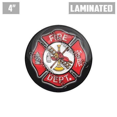 "1 Custom Thick Laminated Glossy 4/"" 3M Premium Decal Sticker FIRE DEPT LOGO"