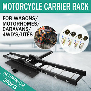 300kg-Motorcycle-Carrier-Hauler-Hitch-Mount-Rack-Scooter-Tow-Bar-steel-HOT