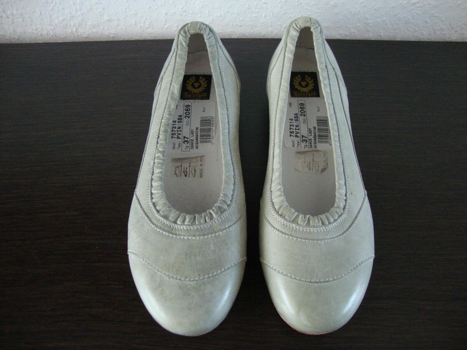 BELSTAFF DANCE LADY Ballerinas Gr.37 Schuhes Schuhe Damen Leder Acquamarine Gr.37 Ballerinas NEU 2bd5af