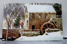 Christmas Tree Xmas Winter Mill Postcard Old Vintage Card View Standard Souvenir
