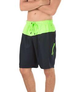 9f7d0129da NWT Speedo Men's Colorblock Volley Swim Shorts/Trunks • Black | eBay