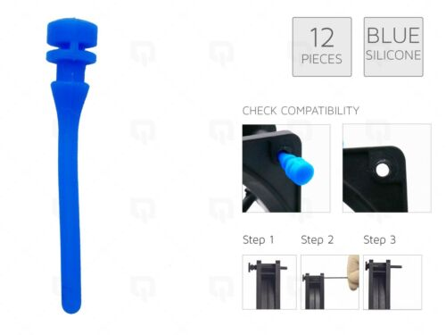 12 BLUE REAL Silicone Mounting Screws//Rubber//Case//Fan Anti-Vibration Mount Damp